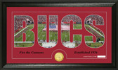 """Tampa Bay Buccaneers """"Silhouette"""" Bronze Coin Panoramic Photo Mint"""