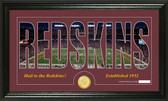 "Washington Redskins ""Silhouette"" Bronze Coin Panoramic Photo Mint"