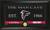 "Atlanta Falcons ""Man Cave"" Bronze Coin Panoramic Photo Mint"