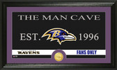 "Baltimore Ravens ""Man Cave"" Bronze Coin Panoramic Photo Mint"