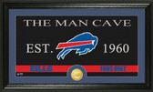 "Buffalo Bills ""Man Cave"" Bronze Coin Panoramic Photo Mint"