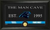 """Carolina Panthers """"Man Cave"""" Bronze Coin Panoramic Photo Mint"""