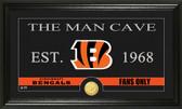 "Cincinnati Bengals ""Man Cave"" Bronze Coin Panoramic Photo Mint"