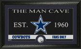 "Dallas Cowboys ""The Man Cave"" Minted Coin Panoramic Photo Mint"