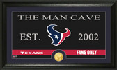 "Houston Texans ""Man Cave"" Bronze Coin Panoramic Photo Mint"