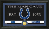 "Indianapolis Colts ""The Man Cave"" Bronze Coin Panoramic Photo Mint"