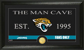 "Jacksonville Jaguars ""Man Cave"" Bronze Coin Panoramic Photo Mint"