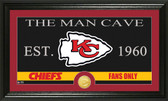 "Kansas City Chiefs ""The Man Cave"" Bronze Coin Panoramic Photo Mint"