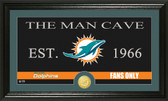 "Miami Dolphins ""Man Cave"" Bronze Coin Panoramic Photo Mint"