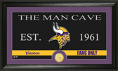 "Minnesota Vikings ""Man Cave"" Bronze Coin Panoramic Photo Mint"