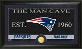 "New England Patriots ""The Man Cave"" Bronze Coin Panoramic Photo Mint"
