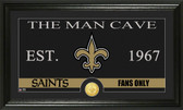 "New Orleans Saints ""The Man Cave"" Bronze Coin Panoramic Photo Mint"
