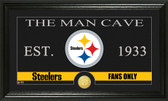 "Pittsburgh Steelers ""The Man Cave"" Bronze Coin Panoramic Photo Mint"