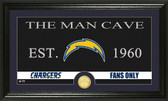 "San Diego Chargers ""Man Cave"" Bronze Coin Panoramic Photo Mint"