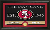 "San Francisco 49ers ""The Man Cave"" Bronze Coin Panoramic Photo Mint"