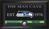 "Seattle Seahawks ""The Man Cave"" Minted Coin Panoramic Photo Mint"