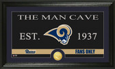 "St. Louis Rams ""Man Cave"" Bronze Coin Panoramic Photo Mint"