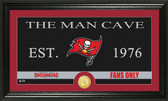"""Tampa Bay Buccaneers """"Man Cave"""" Bronze Coin Panoramic Photo Mint"""