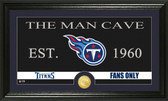 "Tennessee Titans ""Man Cave"" Bronze Coin Panoramic Photo Mint"