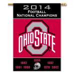 Ohio State Buckeyes 2-Sided 28 x 40 Banner - Champ Years