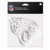 Jacksonville Jaguars 6x6 Perfect Cut Decal - Chrome