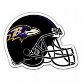 "Baltimore Ravens 12"" Helmet Car Magnet"