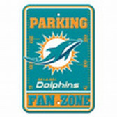 Miami Dolphins 12x18 Plastic Fan Zone Sign