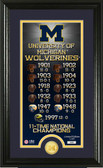 "Michigan Wolverines ""Legacy"" Bronze Coin Panoramic Photo Mint"