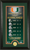 "Miami Hurricanes ""Legacy"" Bronze Coin Panoramic Photo Mint"