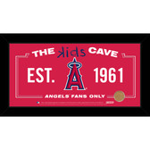Los Angeles Angels 6x12 Kids Cave Sign with Game Used Dirt from Angel Stadium of Anaheim