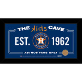 Houston Astros 6x12 Kids Cave Sign with Game Used Dirt from Minute Maid Park