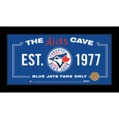 Toronto Blue Jays 6x12 Kids Cave Sign with Game Used Dirt from Rogers Centre