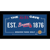 Atlanta Braves 6x12 Kids Cave Sign with Game Used Dirt from Turner Field