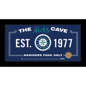 Seattle Mariners 6x12 Kids Cave Sign with Game Used Dirt from Safeco Field