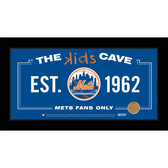 New York Mets 6x12 Kids Cave Sign with Game Used Dirt from Citi Field