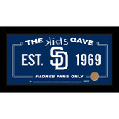 San Diego Padres 6x12 Kids Cave Sign with Game Used Dirt from Petco Park