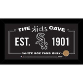 Chicago White Sox 6x12 Kids Cave Sign with Game Used Dirt from U.S. Cellular Field