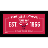 Chicago Bulls 6x12 Kids Cave Sign