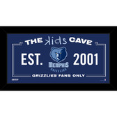Memphis Grizzlies 6x12 Kids Cave Sign