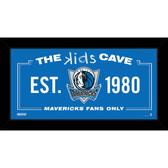 Dallas Mavericks 6x12 Kids Cave Sign