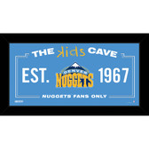 Denver Nuggets 6x12 Kids Cave Sign