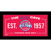 Detroit Pistons 6x12 Kids Cave Sign