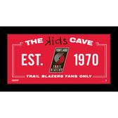 Portland Trail Blazers 6x12 Kids Cave Sign