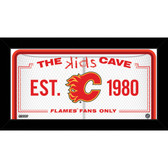 Calgary Flames 6x12 Kids Cave Sign