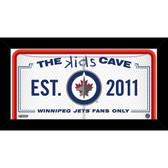 Winnipeg Jets 6x12 Kids Cave Sign