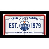 Edmonton Oilers 6x12 Kids Cave Sign