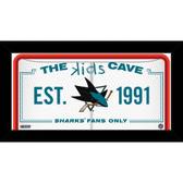 San Jose Sharks 6x12 Kids Cave Sign