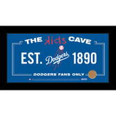 Los Angeles Dodgers 10x20 Kids Cave Sign with Game Used Dirt from Dodger Stadium