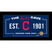 Cleveland Indians 10x20 Kids Cave Sign with Game Used Dirt from Progressive Field