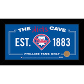 Philadelphia Phillies 10x20 Kids Cave Sign with Game Used Dirt from Citizens Bank Park